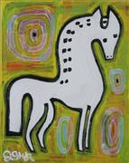Original art for sale at UGallery.com | Fairytale Horse by Jessica JH Roller | $225 | acrylic painting | http://www.ugallery.com/acrylic-painting-fairytale-horse