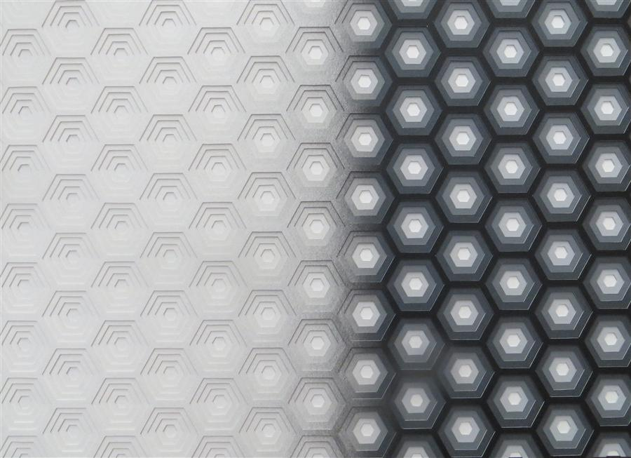 Original art for sale at UGallery.com | Hexagon - Greyscale by DAVID BALLINGER | $1,675 | Other media | 16' h x 22' w | http://www.ugallery.com/other-media-hexagon-greyscale