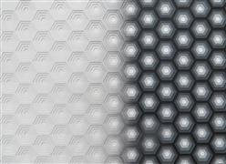 Abstract art,other media,Hexagon - Greyscale