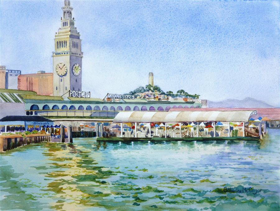 Buy original art by catherine mccargar watercolor for Buy art san francisco