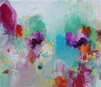 Abstract art,Expressionism art,mixed media artwork,Fancy Pants