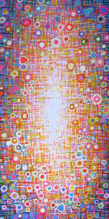 Original art for sale at UGallery.com | Sweet Escape by NATASHA TAYLES | $825 | Acrylic painting | 35' h x 17' w | http://www.ugallery.com/acrylic-painting-sweet-escape