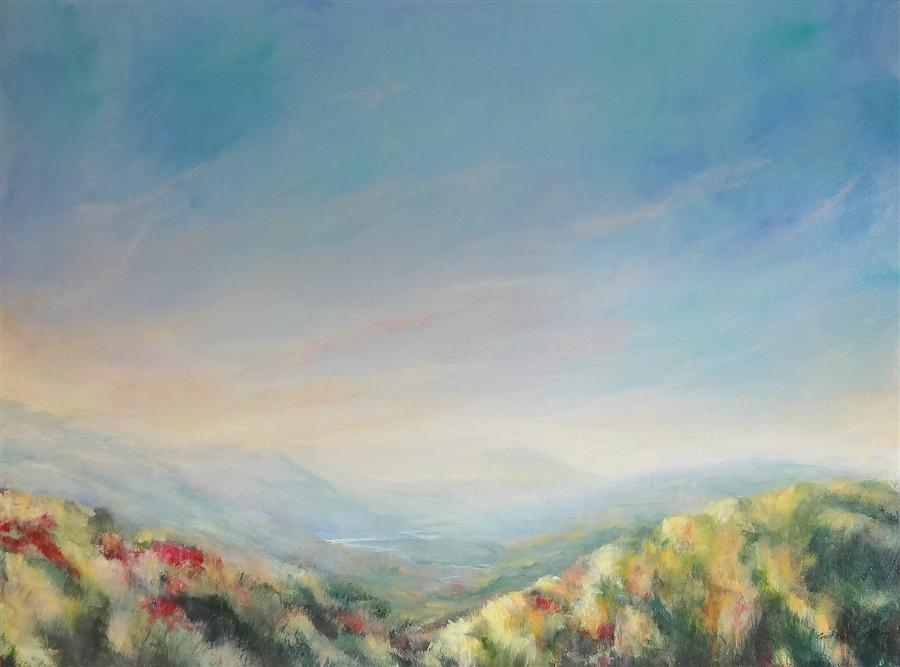 Original art for sale at UGallery.com | Ripening Stillness by CAROLE MOORE | $3,275 | Acrylic painting | 36' h x 48' w | http://www.ugallery.com/acrylic-painting-ripening-stillness