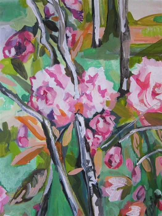 Original art for sale at UGallery.com | Flowers Of Hope by COLETTE WIRZ NAUKE | $825 | Acrylic painting | 20' h x 16' w | http://www.ugallery.com/acrylic-painting-flowers-of-hope