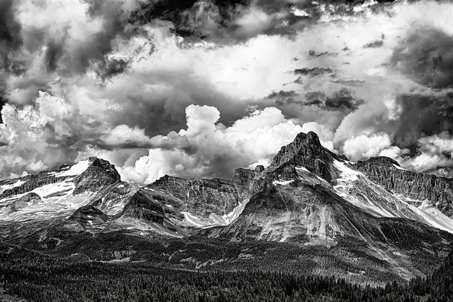 Discover Original Art by Jay Moore | Canadian Rockies Building Storm photography | Art for Sale Online at UGallery