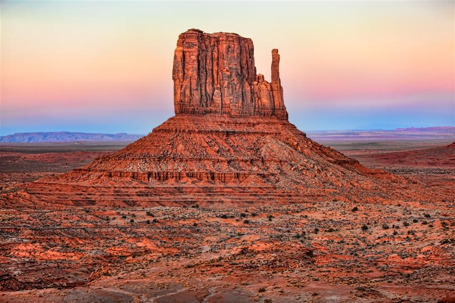 Original art for sale at UGallery.com | Left Mitten, Monument Valley by JAY MOORE | $150 |  | ' h x ' w | http://www.ugallery.com/photography-left-mitten-monument-valley