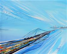 Discover Original Art by Piero Manrique | Bridge Through Time acrylic painting | Art for Sale Online at UGallery