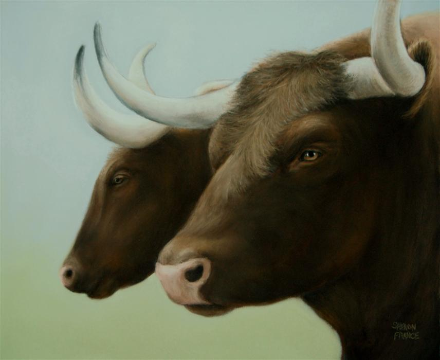 Original art for sale at UGallery.com | Best Buddies by SHARON  FRANCE | $850 | Pastel artwork | 9' h x 11' w | http://www.ugallery.com/pastel-artwork-best-buddies