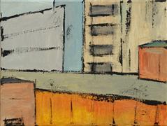 Abstract art,Architecture art,City art,acrylic painting,Brooklyn 7