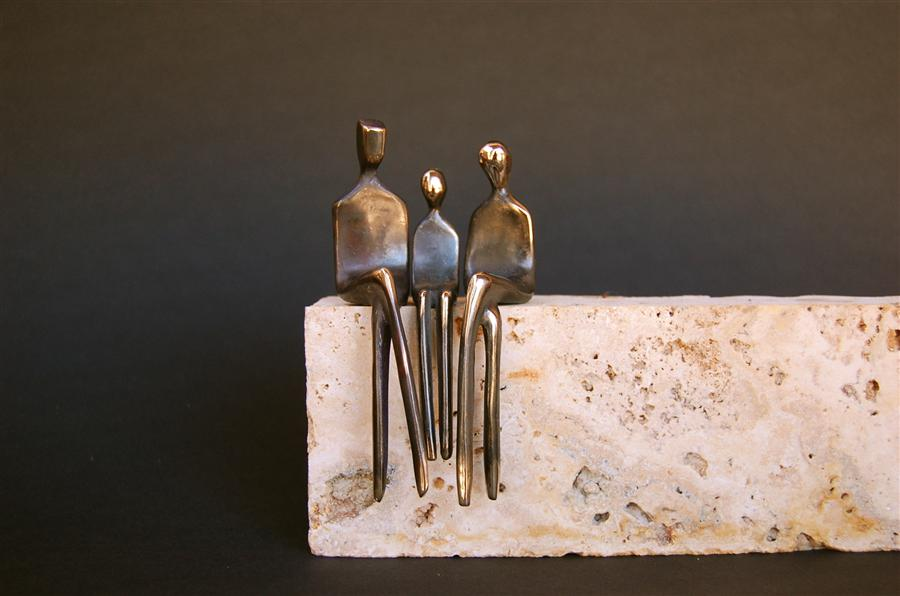 Original art for sale at UGallery.com | Family of Three by YENNY COCQ | $425 | Sculpture | 4.5' h x 3' w | http://www.ugallery.com/sculpture-family-of-three
