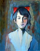Original art for sale at UGallery.com | Old Portrait by Carolyn Schlam | $2,300 | oil painting | http://www.ugallery.com/oil-painting-old-portrait
