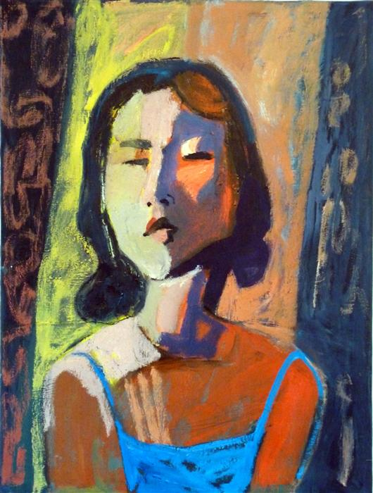 Discover Original Art by Carolyn Schlam | Asian Woman oil painting | Art for Sale Online at UGallery