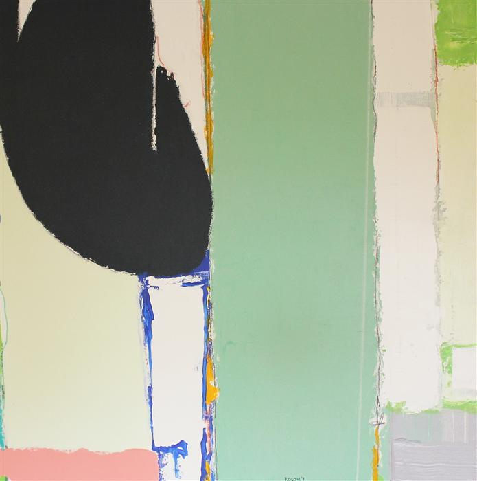 Original art for sale at UGallery.com | Anticipation for Chicago by JOEY KOROM | $1,675 | Mixed media artwork | 36' h x 36' w | http://www.ugallery.com/mixed-media-artwork-anticipation-for-chicago