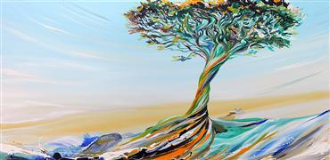 Discover Original Art by Piero Manrique | Graceful Tree acrylic painting | Art for Sale Online at UGallery