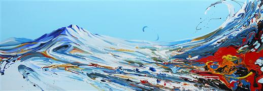 Discover Original Art by Piero Manrique | Mountain Wind acrylic painting | Art for Sale Online at UGallery