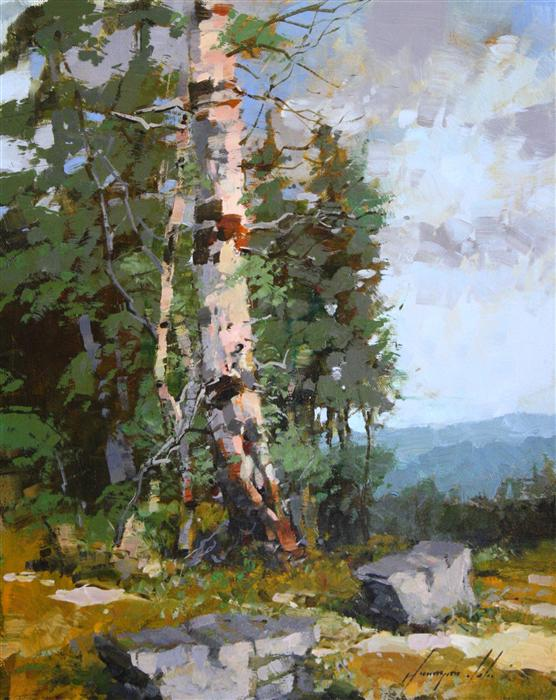 Original art for sale at UGallery.com | Near to Forest by VAHE YEREMYAN | $450 | Oil painting | 14' h x 11' w | http://www.ugallery.com/oil-painting-near-to-forest