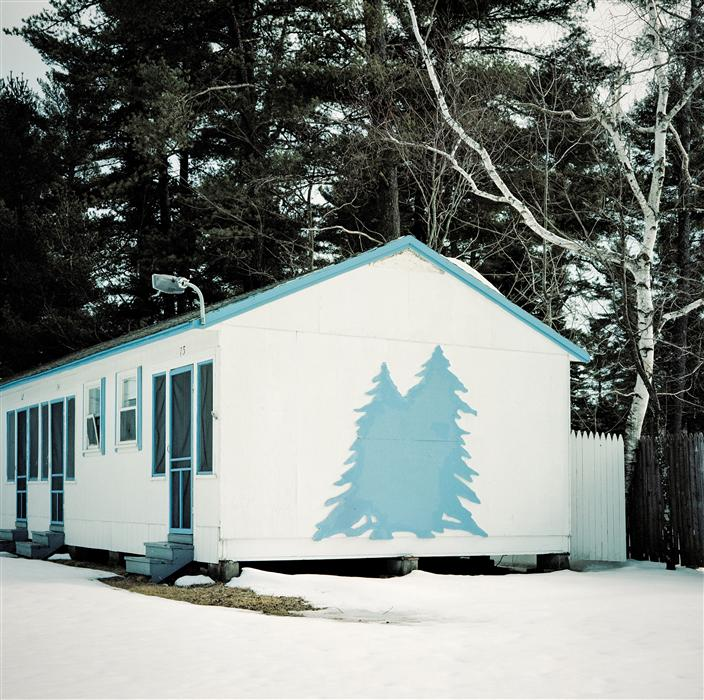 Discover Original Art by Mark Yaggie | Cabin with Blue Tree photography | Art for Sale Online at UGallery
