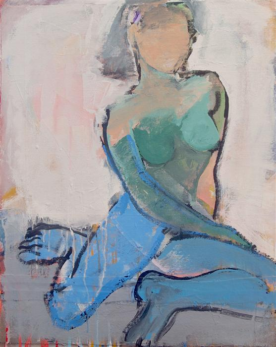 Discover Original Art by Stephen Poling | Blue Legs acrylic painting | Art for Sale Online at UGallery