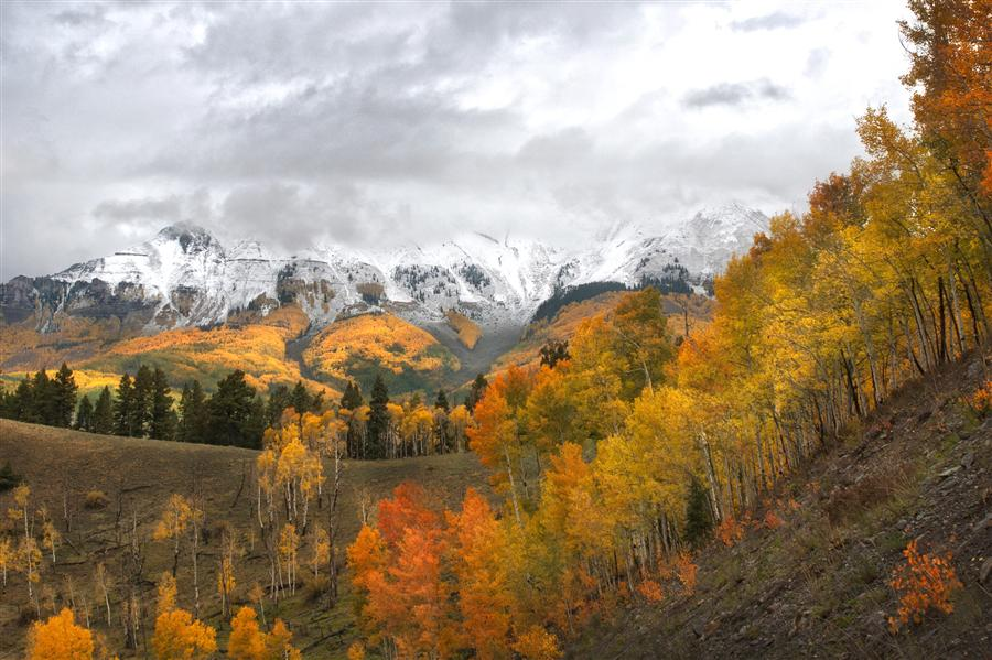 Discover Original Art by Maxwell Koepke | Telluride in Orange photography | Art for Sale Online at UGallery