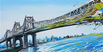 Discover Original Art by Piero Manrique | 59 St. Bridge acrylic painting | Art for Sale Online at UGallery