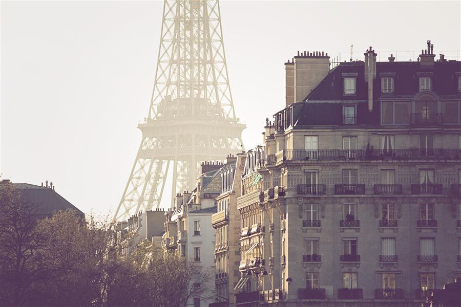 Original art for sale at UGallery.com | Paris Magic Hour by REBECCA PLOTNICK | $195 |  | ' h x ' w | http://www.ugallery.com/photography-paris-magic-hour