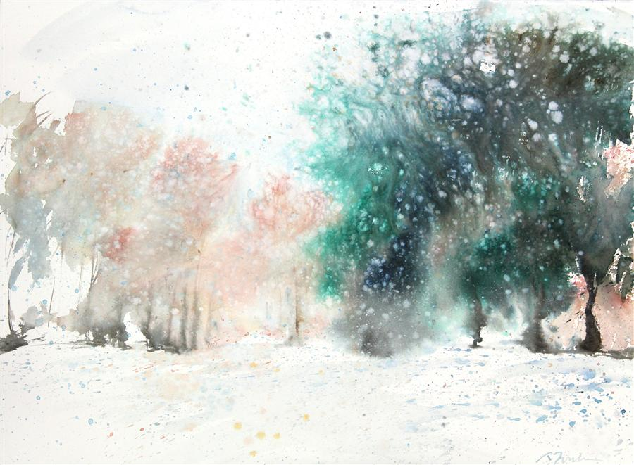 Original art for sale at UGallery.com | New England No. 206 by SUMIYO TORIBE | $425 | Watercolor painting | 22' h x 30' w | http://www.ugallery.com/watercolor-painting-new-england-no-206