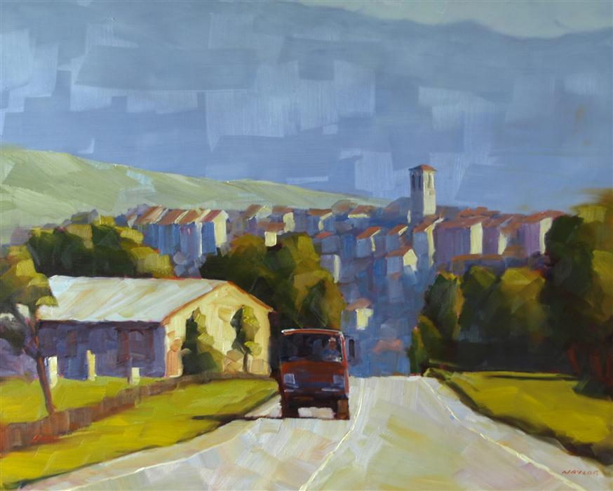 Discover Original Art by Rodgers Naylor | A Good Day on the Road oil painting | Art for Sale Online at UGallery