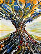 Discover Original Art by Piero Manrique | Tree of Light acrylic painting | Art for Sale Online at UGallery