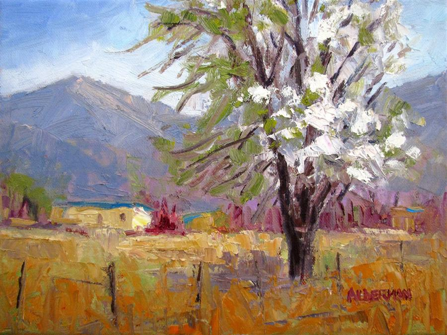 Original art for sale at UGallery.com | Taos Spring by ROGER ALDERMAN | $600 | Oil painting | 9' h x 12' w | http://www.ugallery.com/oil-painting-taos-spring