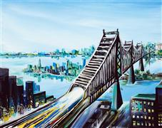 Discover Original Art by Piero Manrique | Queensboro acrylic painting | Art for Sale Online at UGallery