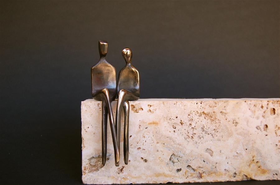 Original art for sale at UGallery.com | Love Is Us by YENNY COCQ | $350 | Sculpture | 4.5' h x 2' w | http://www.ugallery.com/sculpture-love-is-us