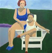 People art,Pop art,Representational art,Vintage art,acrylic painting,Frances and Dad