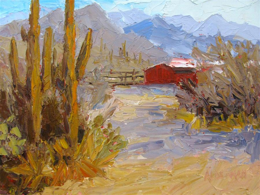 Discover Original Art by Roger Alderman | Red Barn oil painting | Art for Sale Online at UGallery