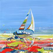 Discover Original Art by Piero Manrique | Sailing with the Wind acrylic painting | Art for Sale Online at UGallery