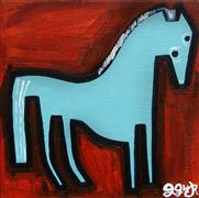 Original art for sale at UGallery.com | Little Blue Pony by Jessica JH Roller | $300 | acrylic painting | http://www.ugallery.com/acrylic-painting-little-blue-pony