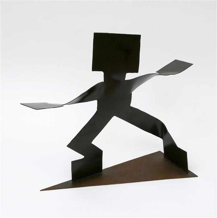 Original art for sale at UGallery.com | Virabhadrasana II (Warrior II Pose) by ORLANDO DOMINGUEZ | $550 | Sculpture | 16.5' h x 22' w | http://www.ugallery.com/sculpture-virabhadrasana-ii-warrior-ii-pose