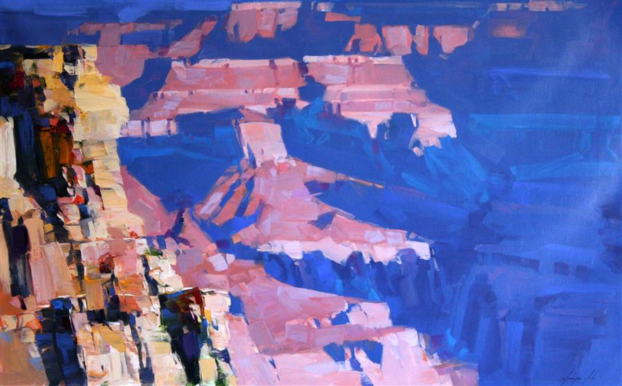 Discover Original Art by Vahe Yeremyan | South Rim Morning oil painting | Art for Sale Online at UGallery