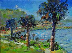 Landscape art,Nature art,Seascape art,oil painting,Breeze from the Ocean