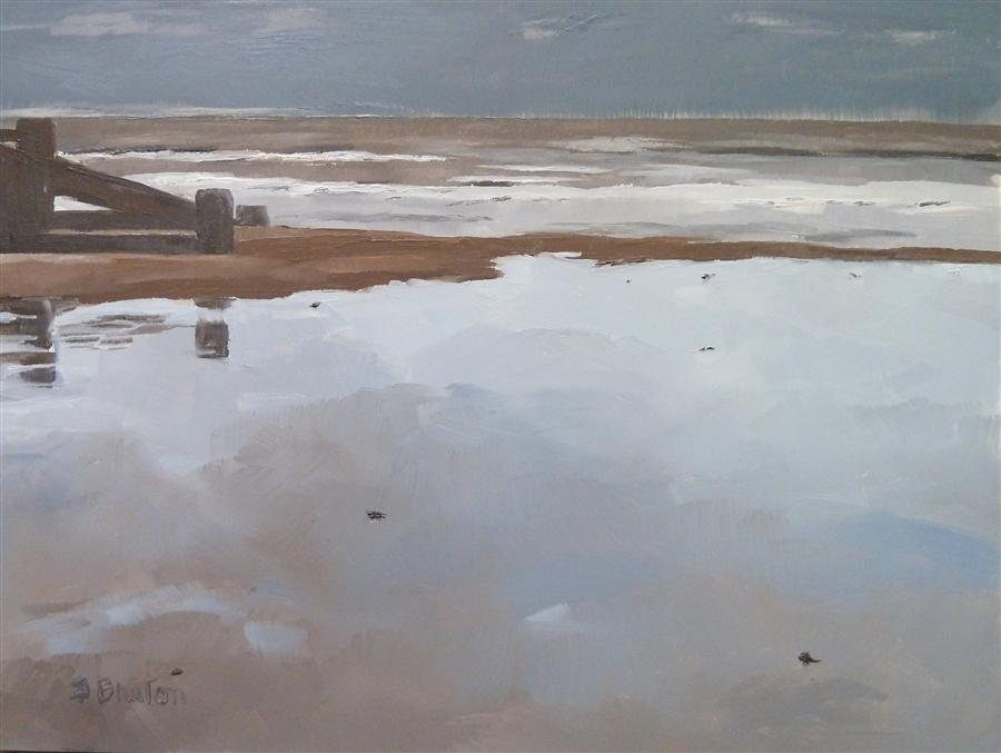 Discover Original Art by Gary Bruton | Overcast oil painting | Art for Sale Online at UGallery