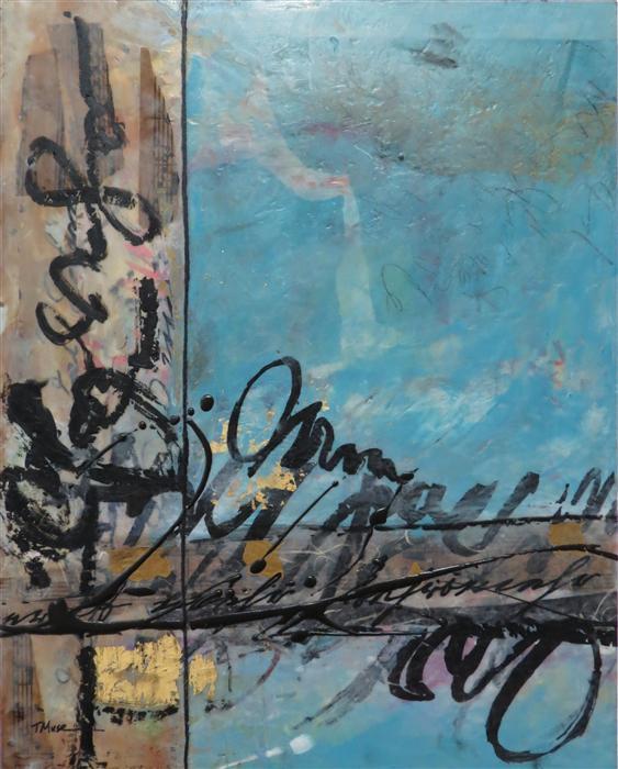 Original art for sale at UGallery.com | Symbiotic by TERI MUSE | $475 | Encaustic artwork | 20' h x 16' w | http://www.ugallery.com/encaustic-artwork-symbiotic