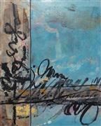 Abstract art,encaustic artwork,Symbiotic