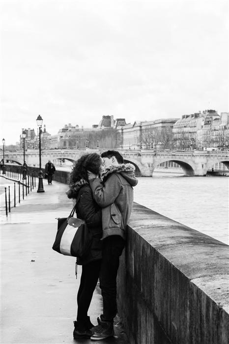 Original art for sale at UGallery.com | Kiss on the Seine by REBECCA PLOTNICK | $195 |  | ' h x ' w | http://www.ugallery.com/photography-kiss-on-the-seine