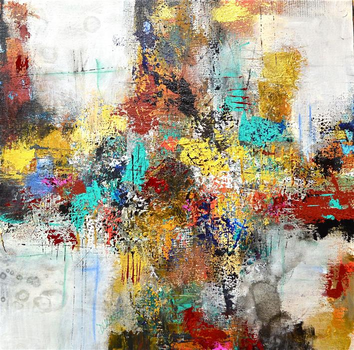 Original art for sale at UGallery.com | Crossroads by DL WATSON | $700 | Acrylic painting | 18' h x 18' w | http://www.ugallery.com/acrylic-painting-crossroads-31935