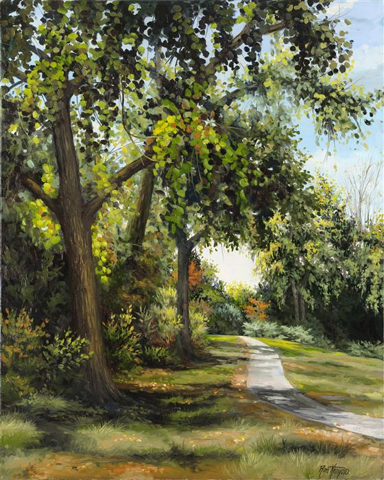 Original art for sale at UGallery.com | Early Fall Trail by RON KENYON | $1,725 | Oil painting | 30' h x 24' w | http://www.ugallery.com/oil-painting-early-fall-trail