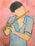 Children's art,People art,acrylic painting,Musician