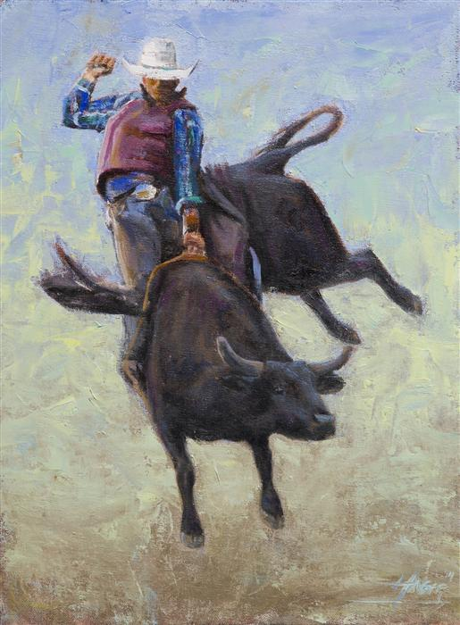 Original art for sale at UGallery.com | Rough Rider by NATHAN HAGER | $650 | Oil painting | 16' h x 12' w | http://www.ugallery.com/oil-painting-rough-rider