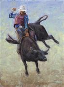 Animals art,Sports art,Western art,oil painting,Rough Rider