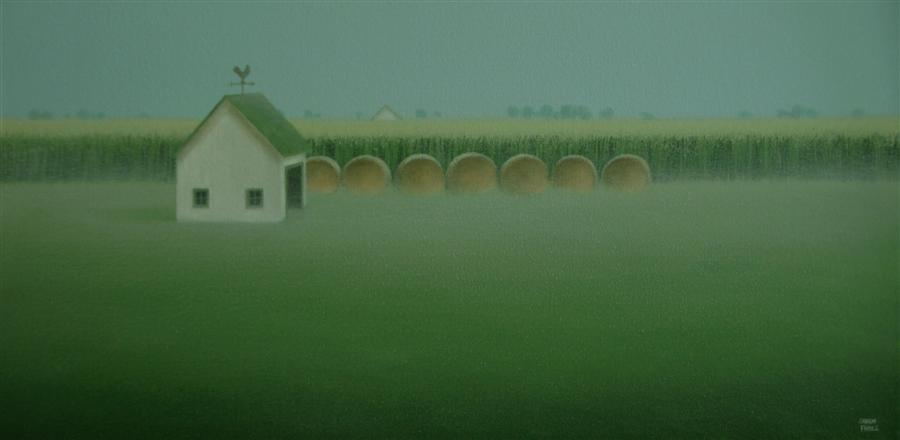 Original art for sale at UGallery.com   Bales by the Old Farm Shed by SHARON  FRANCE   $800   Acrylic painting   12' h x 24' w   http://www.ugallery.com/acrylic-painting-bales-by-the-old-farm-shed