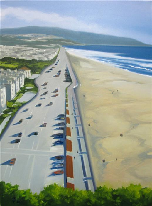 Original art for sale at UGallery.com | Low Tide - Great Highway by OLEG OSIPOFF | $925 | Oil painting | 32' h x 24' w | http://www.ugallery.com/oil-painting-low-tide-great-highway
