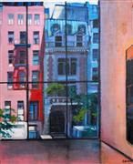 Original art for sale at UGallery.com | Looking out from MoMA by Sidonie Caron | $2,550 | acrylic painting | http://www.ugallery.com/acrylic-painting-looking-out-from-moma